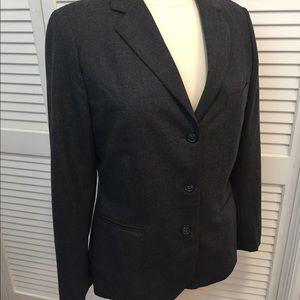 Women's Brooks Brothers Gray Career Blazer Sz 10